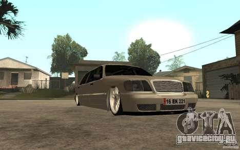 Mercedes-Benz S600 V12 W140 1998 VIP для GTA San Andreas вид сзади