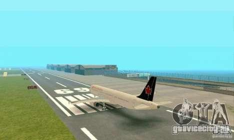 Airbus A321 Air Canada для GTA San Andreas вид справа