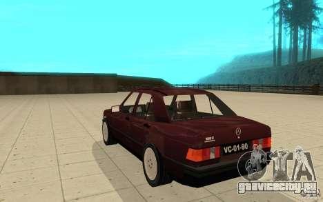 Mercedes-Benz 190 E (W201) 1984 version 1.0 для GTA San Andreas вид сзади слева