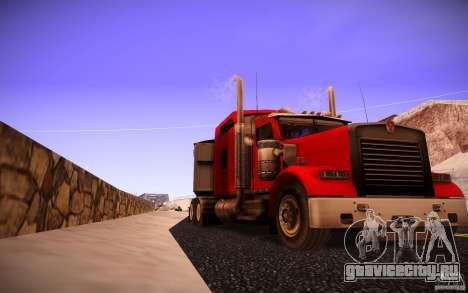 Kenworth W 900L для GTA San Andreas вид сзади слева