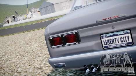 Nissan Skyline 2000 GT-R для GTA 4 вид сбоку