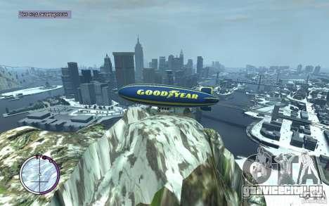 Дирижабль для GTA 4 вид сбоку