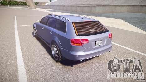 Audi A6 Allroad Quattro 2007 wheel 1 для GTA 4 вид сзади слева