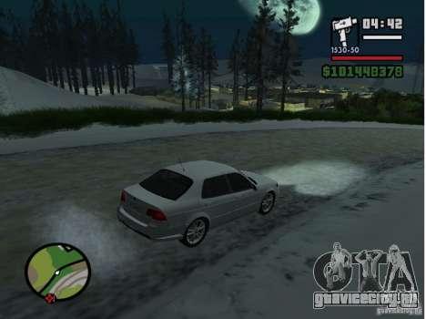 Winter Mod для GTA San Andreas третий скриншот