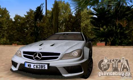 Mercedes-Benz C63 AMG для GTA San Andreas двигатель