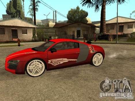 Audi R8 для GTA San Andreas вид сверху
