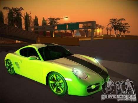 Porsche Cayman S Snow для GTA San Andreas
