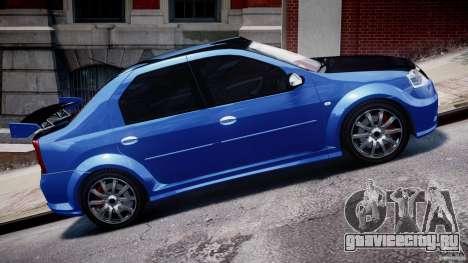 Dacia Logan 2008 [Tuned] для GTA 4 вид сбоку