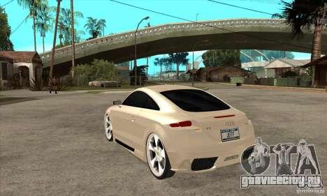Audi TT Quattro 2007 для GTA San Andreas вид сзади слева