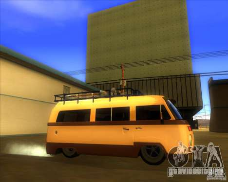 Volkswagen Kombi Classic Retro для GTA San Andreas вид слева