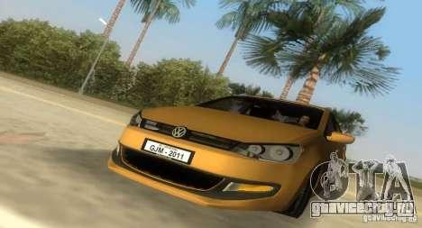 Volkswagen Polo 2011 для GTA Vice City вид сзади слева