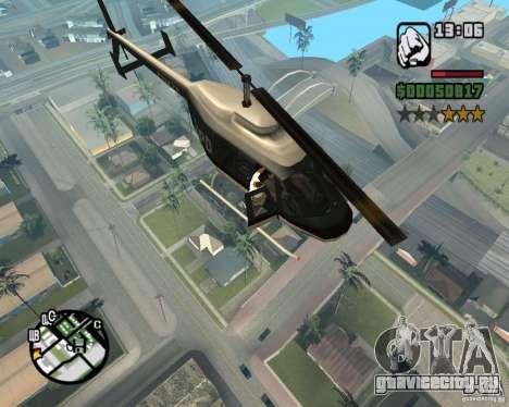 Запрыгиваем в вертолет для GTA San Andreas четвёртый скриншот