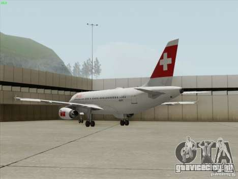 Airbus A319-112 Swiss International Air Lines для GTA San Andreas вид сбоку