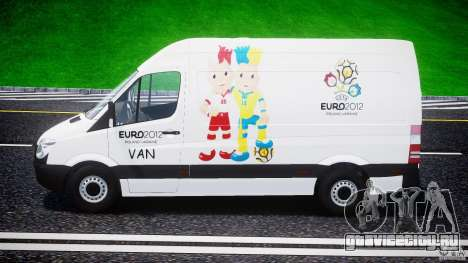 Mercedes-Benz Sprinter Euro 2012 для GTA 4 вид изнутри
