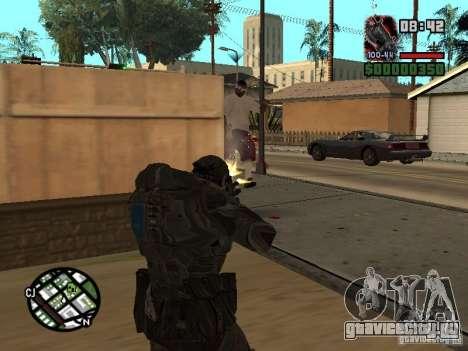 Маркус Феникс из Gears of War 2 для GTA San Andreas третий скриншот
