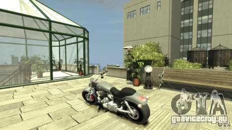 Harley Davidson V-Rod (ver. 0.1 beta) HQ для GTA 4 вид сзади слева