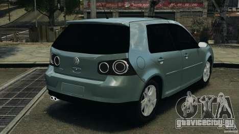 Volkswagen Golf Sportline 2011 для GTA 4 вид сзади слева