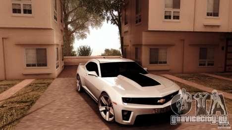Chevrolet Camaro ZL1 2011 v1.0 для GTA San Andreas вид сзади