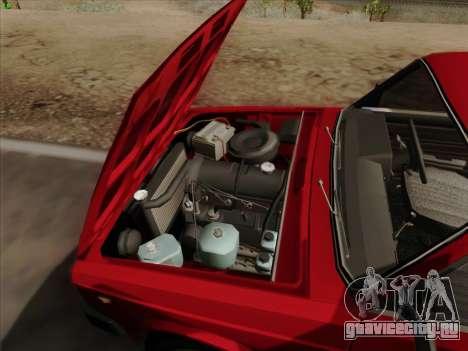 Lada 2105 RIVA (Экспортная) 2.0 для GTA San Andreas вид снизу