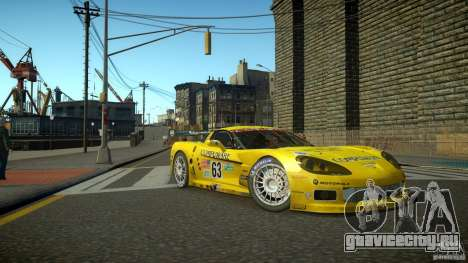 Chevrolet Corvette C6-R v2.0 для GTA 4 вид слева
