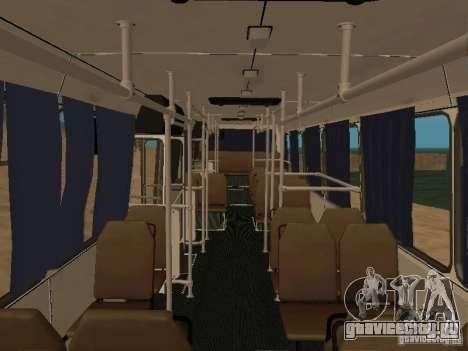 ЛАЗ 52527 для GTA San Andreas вид изнутри