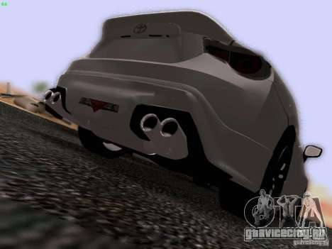 Toyota 86 TRDPerformanceLine 2012 для GTA San Andreas вид сбоку