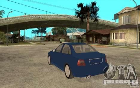 Audi A4 для GTA San Andreas вид сзади слева