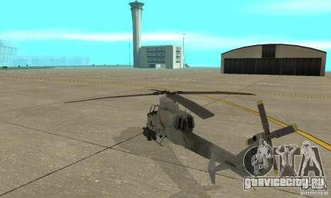 Hunter - AH-1Z Cobra для GTA San Andreas вид сзади слева