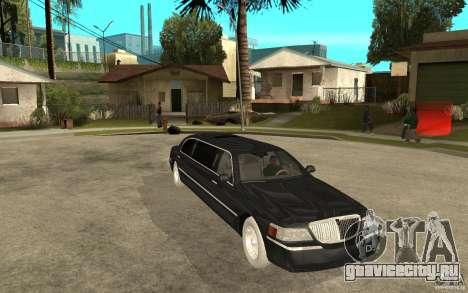Lincoln Towncar limo 2003 для GTA San Andreas вид сзади