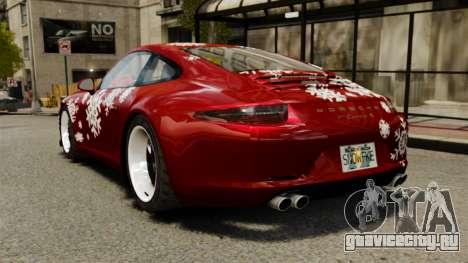 Porsche 911 (991) Carrera S для GTA 4 вид сзади слева