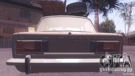 ВАЗ 2106 Tuning Rat Style для GTA San Andreas вид изнутри
