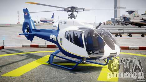 Eurocopter EC 130 NYPD для GTA 4 вид сзади