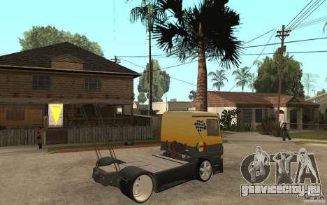 Mercedes Benz Actros Dragster для GTA San Andreas вид справа