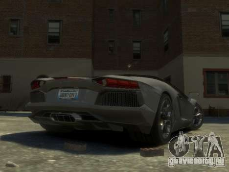 Lamborghini Aventador LP700-4 EPM для GTA 4 вид сзади слева
