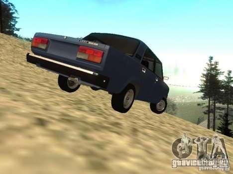 ВАЗ 2107 v 1.1 для GTA San Andreas вид сзади слева