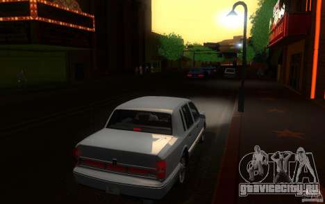 Lincoln Towncar 1991 для GTA San Andreas вид справа