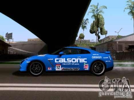 Nissan GTR 2010 Spec-V для GTA San Andreas вид сзади слева