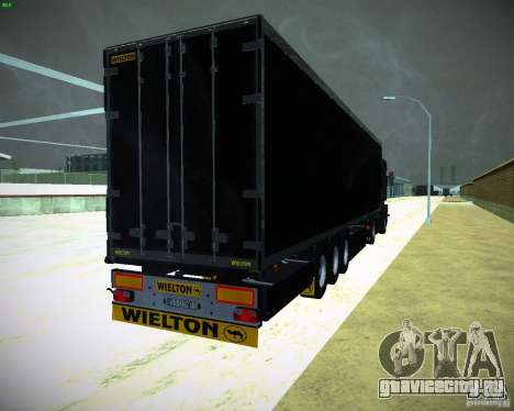 Wielton для GTA San Andreas вид сзади слева