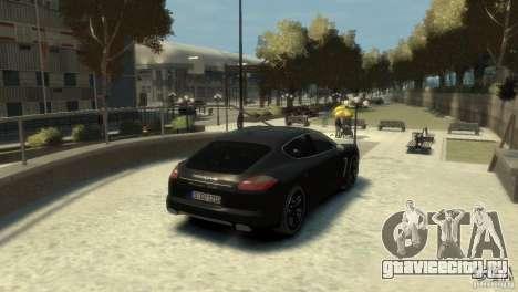 PORSCHE Panamera Turbo для GTA 4 вид справа