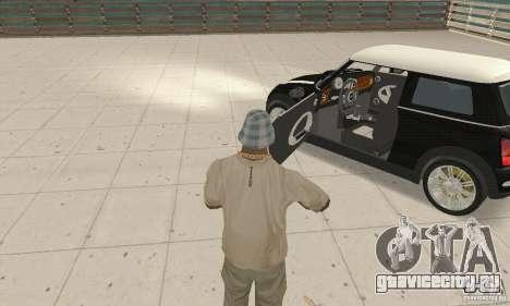 Mini Cooper Hardtop для GTA San Andreas вид сзади