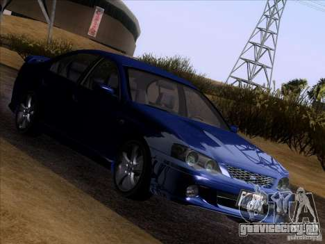 Ford Falcon для GTA San Andreas вид сзади