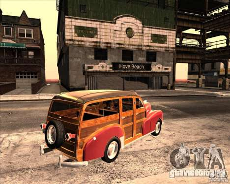 Chevrolet Fleetmaster 1948 для GTA San Andreas вид справа