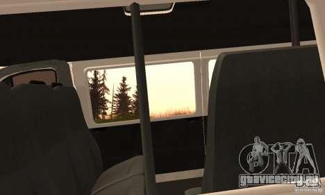 ГАЗель 32213 Новосибирская Маршрутка для GTA San Andreas вид сзади