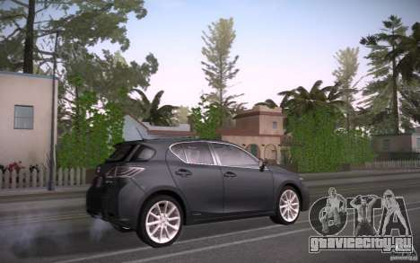 Lexus CT200H 2011 для GTA San Andreas вид справа