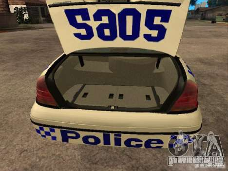 Ford Crown Victoria NSW Police для GTA San Andreas вид сзади
