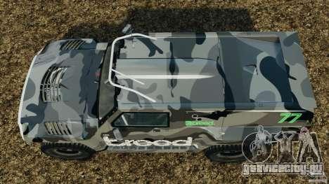 Hummer H3 raid t1 для GTA 4 вид справа