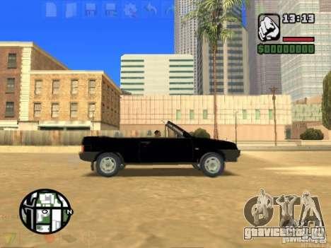 ВАЗ 2108 Кабриолет для GTA San Andreas вид слева
