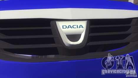 Dacia Logan MCV Facelift для GTA San Andreas вид сзади слева