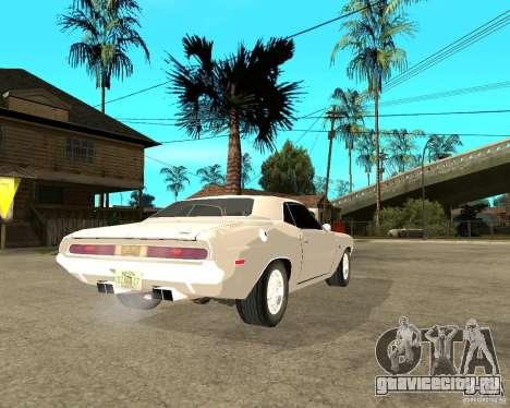 Dodge Challenger R/T Hemi 70 для GTA San Andreas вид сзади слева