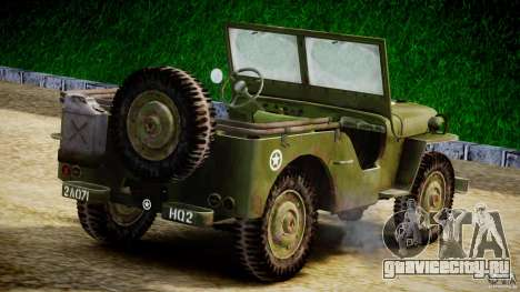 Jeep Willys [Final] для GTA 4 вид справа